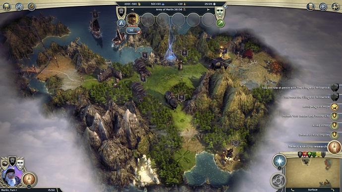 O mapa geral do jogo é sempre muito bonito (Foto: Divulgação)