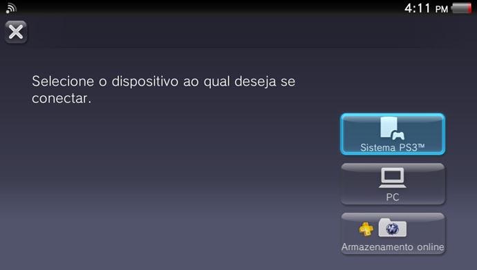 Vita: como armazenar os games do portátil no PS3 (Foto: Reprodução/Murilo Molina)
