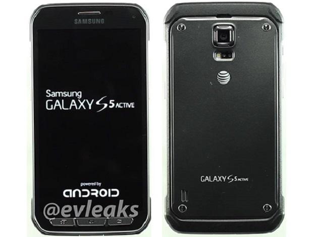 Galaxy S5 Active aparece finalizado, com certificação IP58 e display Super Amoled (Foto:Reprodução/@evleaks)