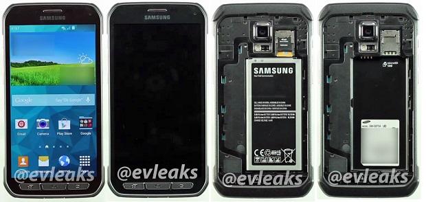O S5 Active terá display maior que o irmão S5: 5,2 polegadas (Foto:Reprodução/@evleaks)