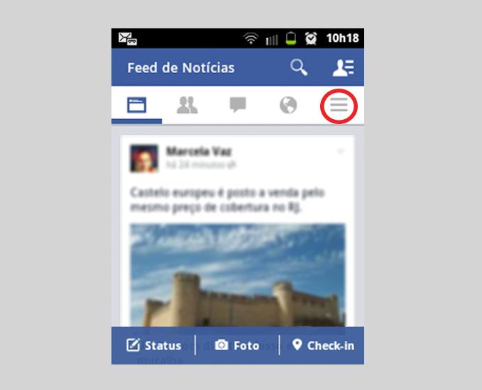Guia Mais na página inicial do Facebook (Foto: Reprodução/ Marcela Vaz)