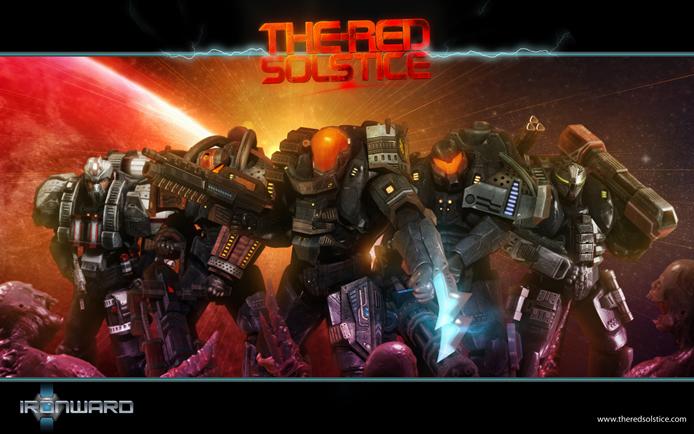 Em The Red Solstice você fará parte de um pelotão de fuzileiros espaciais em uma perigosa missão de reconhecimento (Foto: Divulgação/Ironward)
