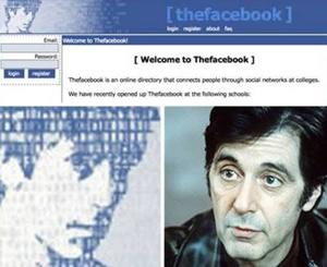 O ator Al Pacino foi o primeiro rosto do Facebook (Foto: Reprodução/Facebook)