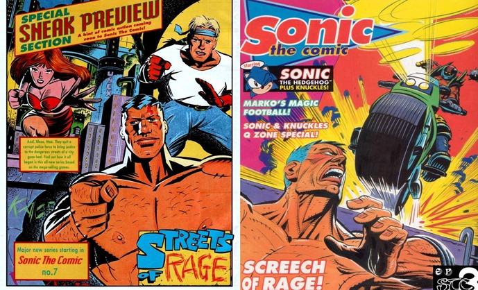 Revista em quadrinhos de Street of Rage não faz sucesso (Foto: Reprodução / SoRonline)