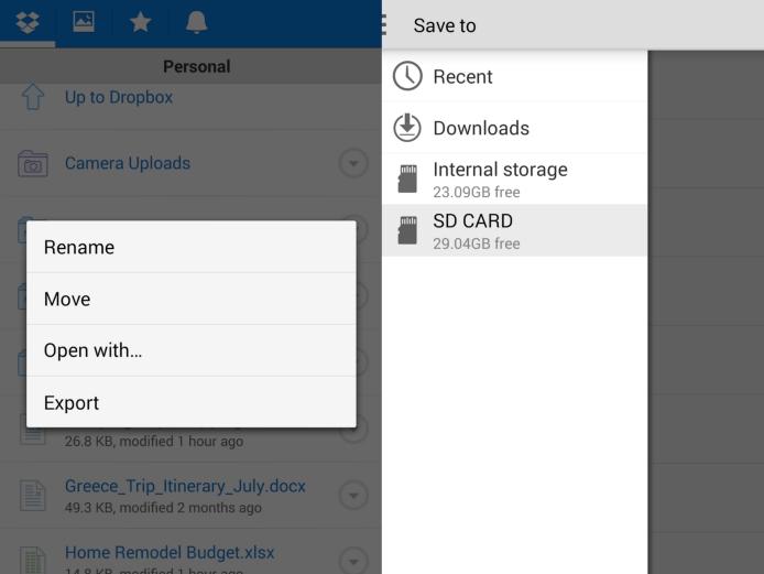 Dropbox ganha exportação para cartão SD no Android (Foto: Divulgação)
