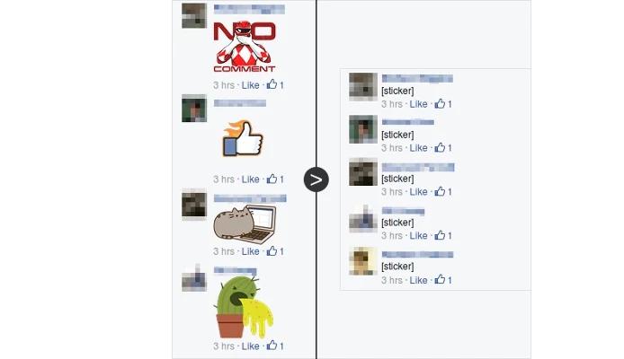 Unsticker.Me permite remover todos os comentários com stickers (Foto: Divulgação)