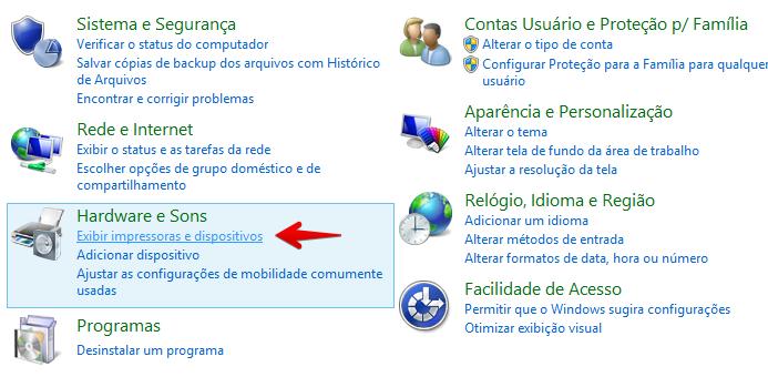 Abra as configurações de dispositivos (Foto: Reprodução/Helito Bijora)