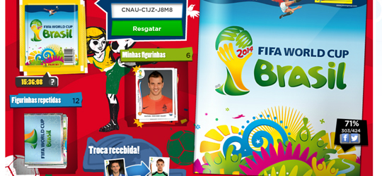 Álbum Virtual da Copa (Foto: Reprodução/André Sugai)