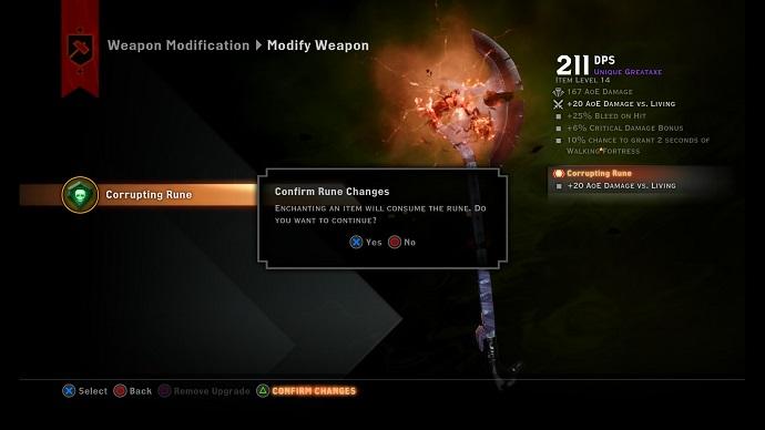 As runas só podem ser utilizadas uma vez em uma arma (Foto: divulgação)