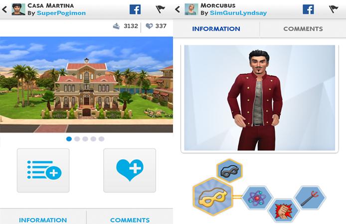The Sims 4 Gallery permite ver criações de outros jogadores ao redor do mundo (Foto: Divulgação)
