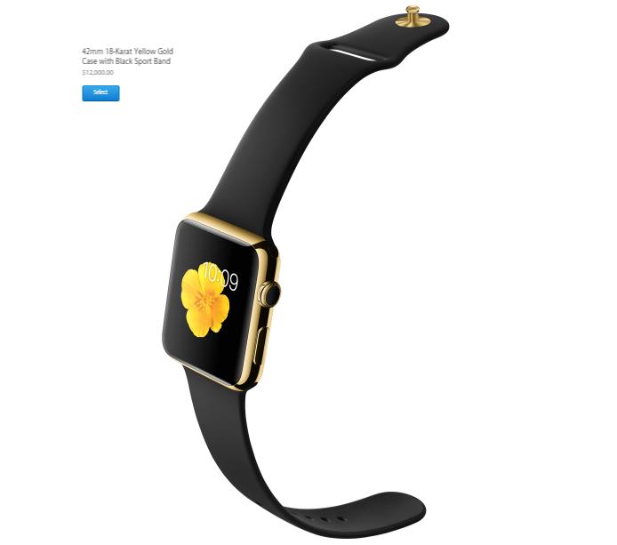 Relógios são bem caros no próprio site da Apple (Foto: Divulgação)