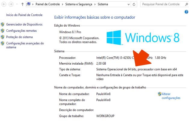 Veja qual a versão do Windows instalada (Foto: Reprodução/Paulo Alves)