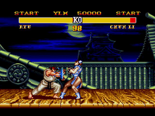 Versão de Street Fighter 2 para Mega Drive (Foto: Reprodução)