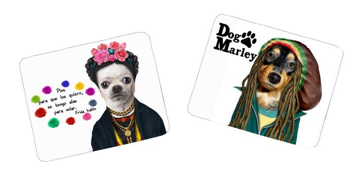 Mouse pads da Frida Kahlo e Bob Marley (Foto: Reprodução/MercadoLivre)