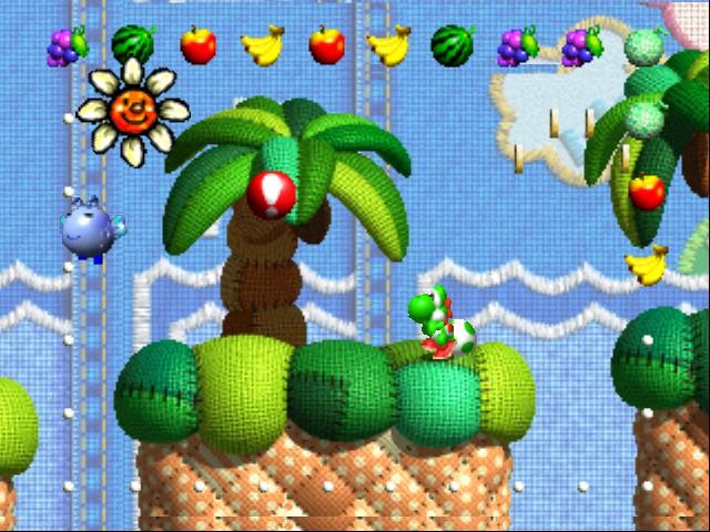 Yoshis Island apostava em um visual bastante diferente para impressionar (Foto: Reprodução)
