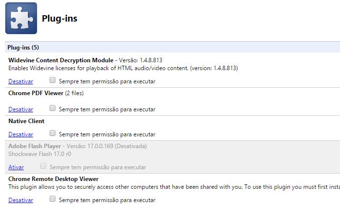 Desativando plugins do Chrome (Foto: Reprodução/Helito Bijora)