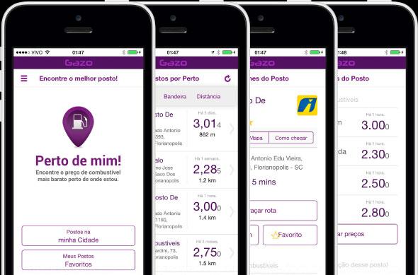 O app Gazo te ajuda a encontrar o posto de combustível mais próximo com preço mais barato (Divulgação)