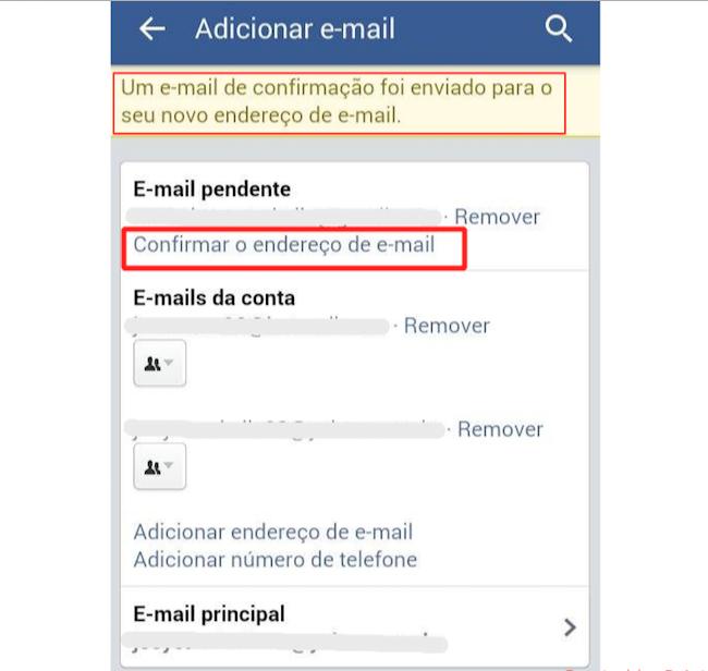 Depois de ver o e-mail de confirmação toque em Confirmar endereço de e-email (Foto: Reprodução)