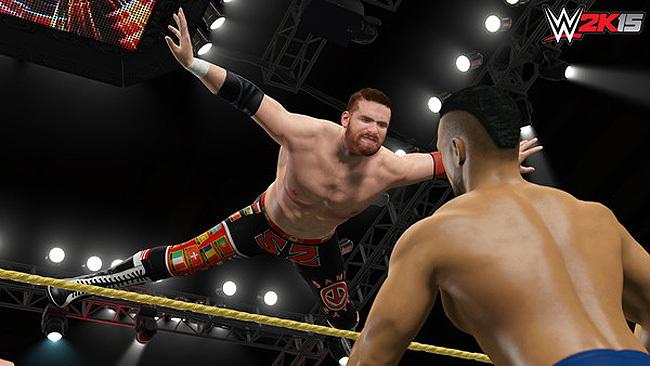 Sami Zayn voando nos ringues da WWE (Foto: Divulgação)