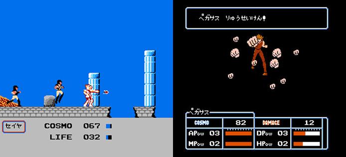 O primeiro game dos Cavaleiros do Zodíaco se esforçou para reproduzir as cenas do anime (Foto: Reprodução/Epic Buzz/GenkiVideoGames)
