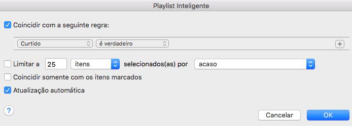 Criando uma playlist inteligente (Foto: Reprodução/Helito Bijora)