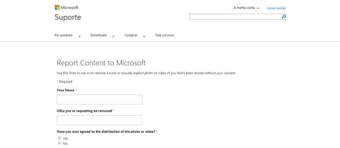 Microsoft lançou nova página de denúncias na web (Foto: Reprodução/Thiago Barros)