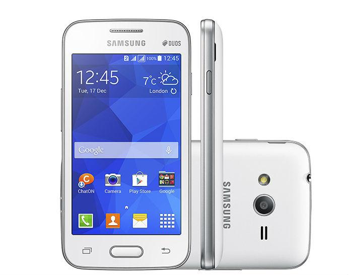 Samsung Galaxy Ace Neo Duos recebe dois chips, mas câmera traseira tem 3MP. Preço de mercado, que não chega a R$ 400, porém, pode compensar.