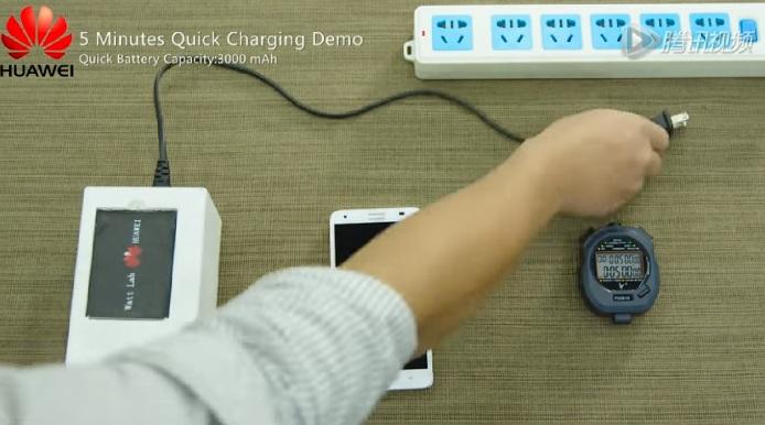 Bateria carrega 48% em cinco minutos (Foto: Reprodução/Youtube)