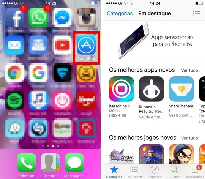 Abrindo a App Store (Foto: Felipe Alencar/TechTudo)