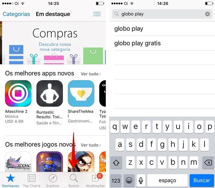 Pesquisando por aplicativos na App Store (Foto: Felipe Alencar/TechTudo)