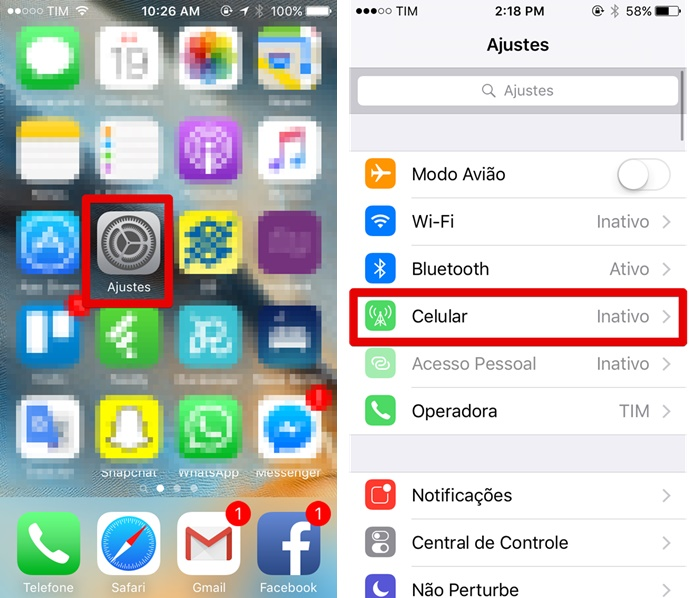 Acesse as configurações do iPhone 5C (Foto: Felipe Alencar/TechTudo)