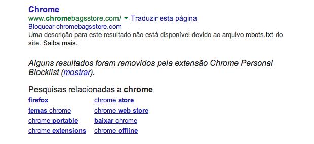 Personal Blocklist bloqueia pesquisas no Google caso o Hosts não funcione (Foto: Reprodução/Helito Bijora)