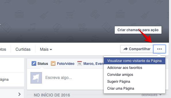 Visualizando página como visitante (Foto: Reprodução/Helito Bijora)