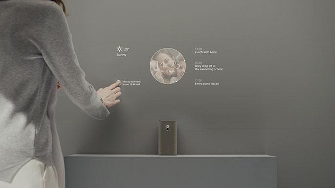 Projetor da Sony usa reconhecimento de ambiente para projetar hologramas em mesas e paredes (Foto: Divulgação/Sony)