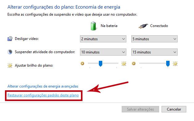 Restaurando o padrão de configurações no Windows (Reprodução/Daniele Starck)