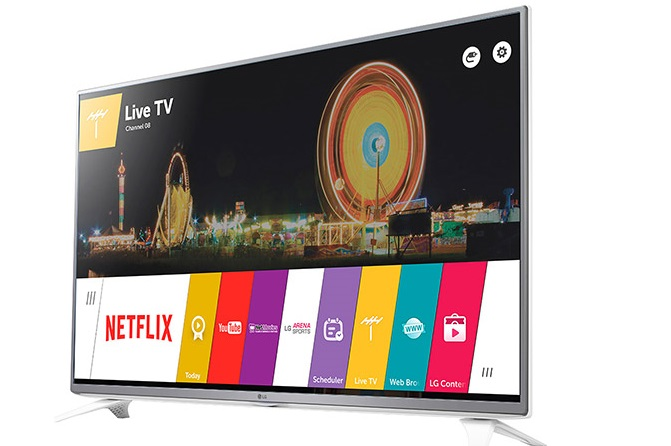 Smart TV da LG tem tela de 43 polegadas com resolução Full HD (Foto: Divulgação/LG)