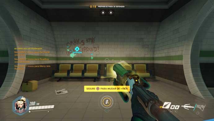 Mercy é capaz de ajudar um time inteiro em Overwatch (Foto: Reprodução/Murilo Molina)