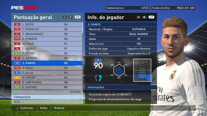 Zagueiro é capaz de atacar e defender em PES 2016 (Foto: Reprodução/Murilo Molina)