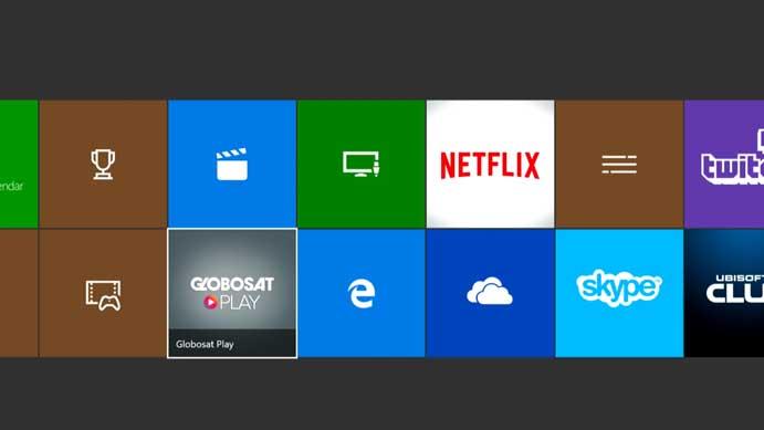 Execute o Globosat Play no menu do seu Xbox (Foto: Reprodução/Murilo Molina)