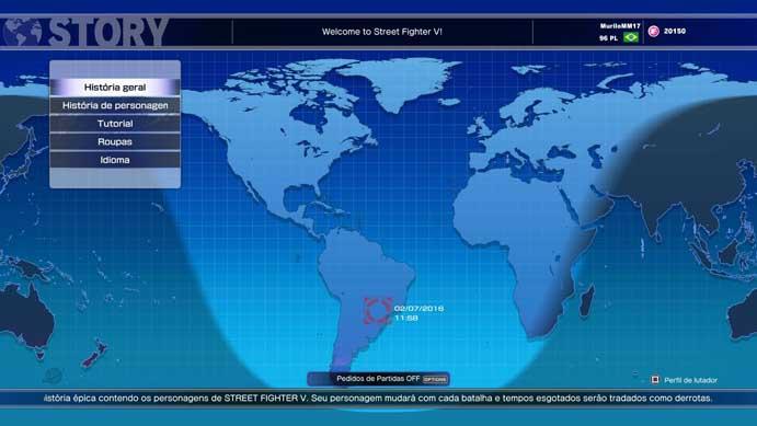 ... campanha geral de Street Fighter V (Foto: Reprodução/Murilo Molina