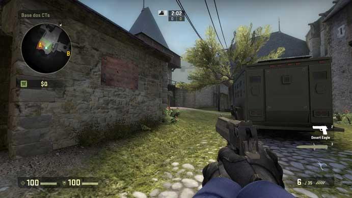 Pistola é um dos ícones de CS:GO (Foto: Reprodução/Murilo Molina)