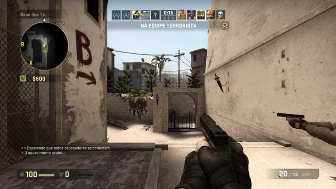 Comece uma partida de Counter-Strike: Global Offensive (Foto: Reprodução/Murilo Molina)