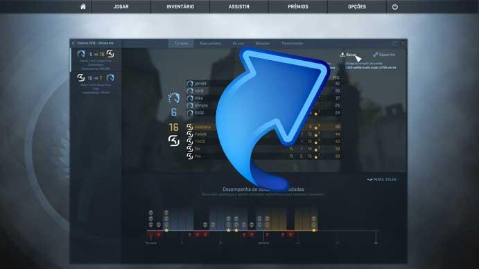 Baixe as partidas de Counter-Strike: Global Offensive (Foto: Reprodução/Murilo Molina)