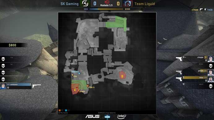 Veja o mapa d partida de Counter-Strike: Global Offensive (Foto: Reprodução/Murilo Molina)