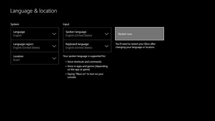 Altere o idioma do Xbox One (Foto: Reprodução/Murilo Molina)