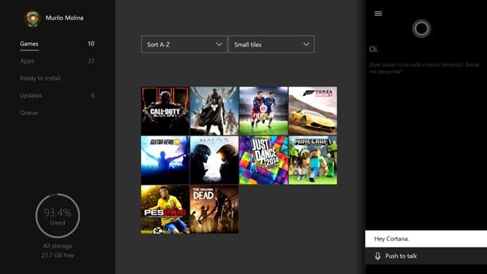 Abra o app com um comando no Xbox One (Foto: Reprodução/Murilo Molina)