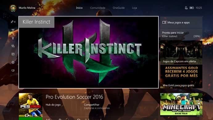 Saiba como baixar e instalar a Season 3 de Killer Instinct no Xbox One (Foto: Reprodução/Murilo Molina)
