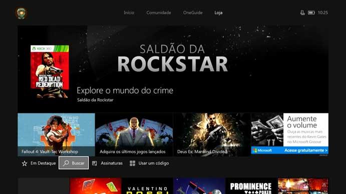 Abra a loja do Xbox One (Foto: Reprodução/Murilo Molina)