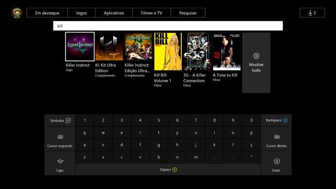 Busque por Killer Instinct no Xbox One (Foto: Reprodução/Murilo Molina)