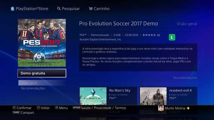 Inicie o download do PES 2017 (Foto: Reprodução/Murilo Molina)